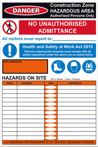 Site Safe 3 Sign - Markit Graphics