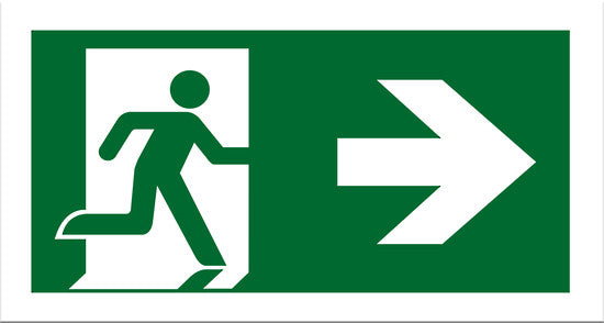 Exit Right Sign - Markit Graphics