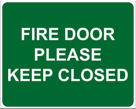 Fire Door Please Keep Closed Sign (Large Version) - Markit Graphics