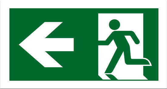 Exit Left Sign - Markit Graphics