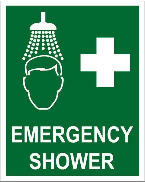 Emergency Shower Sign - Markit Graphics