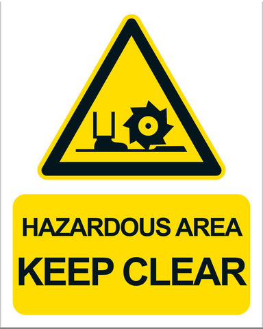 Hazardous Area Keep Clear - Markit Graphics