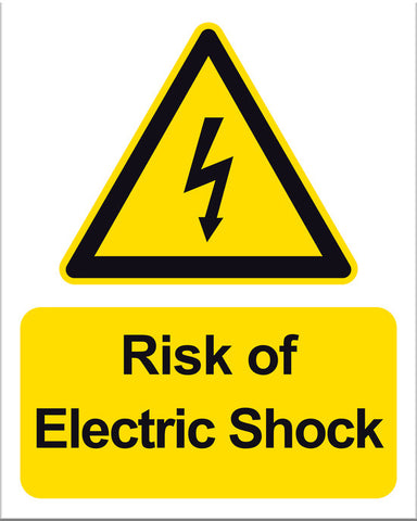 Warning Risk of Electric Shock