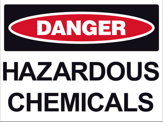 Danger Hazardous Chemicals Sign - Markit Graphics