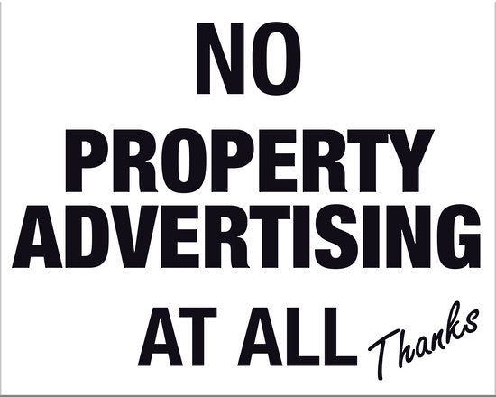 No Property Advertising At All Thanks - Markit Graphics