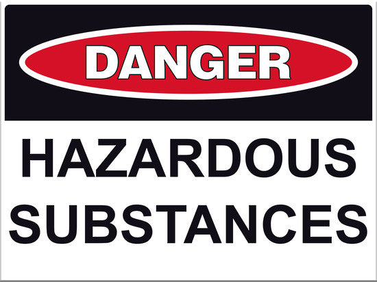 Danger Hazardous Substances Sign - Markit Graphics