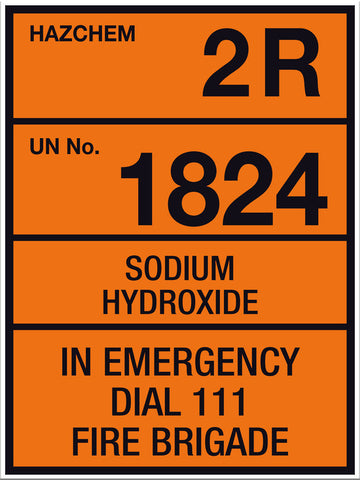 Hazchem Sodium Hydroxide Large Sign - Markit Graphics
