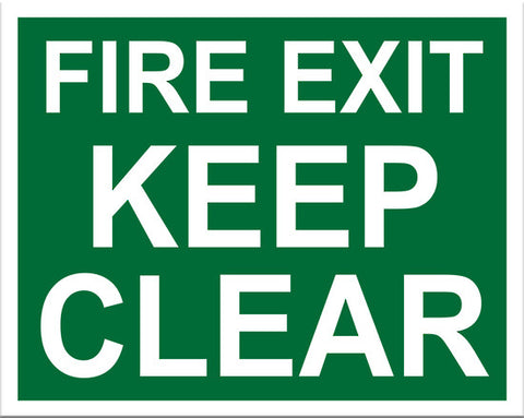 Fire Exit Keep Clear Sign - Markit Graphics