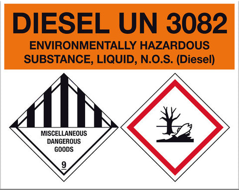 Hazchem Diesel UN3082 Sign - Markit Graphics