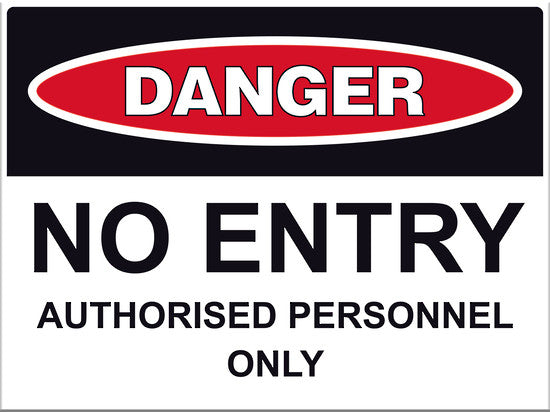 Danger No Entry Sign - Markit Graphics