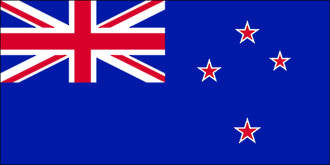 Current New Zealand Flag - Rectangle shape 200mm x 100mm - Markit Graphics