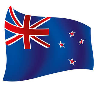 Current New Zealand Flag - Flying Design 167mm x 150mm - Markit Graphics