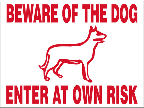 Beware of the Dog Enter at Own Risk - Markit Graphics
