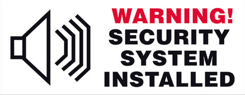 WARNING! SECURITY SYSTEM INSTALLED - Markit Graphics