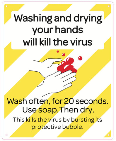Washing and drying your hands will kill the virus