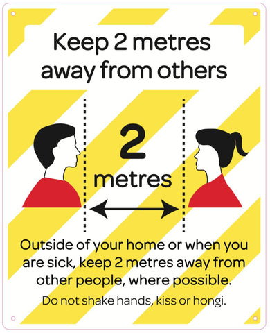 Keep 2 metres away from others