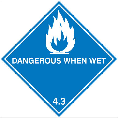 Dangerous When Wet 4.3 Labels - 10 Pack