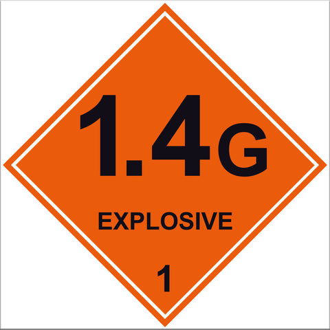 Explosive 1.4G Labels - 10 Pack