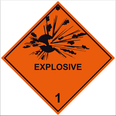 Explosive 1 Labels - 10 Pack