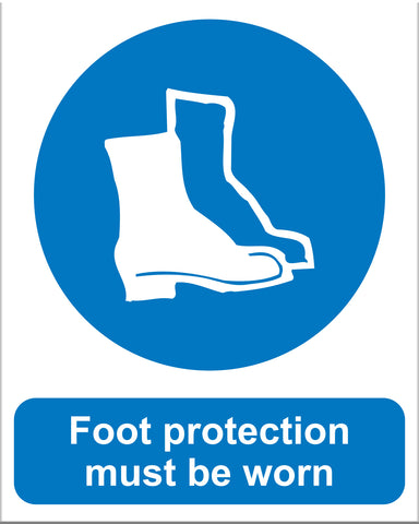 Foot Protection Must Be Worn - Markit Graphics