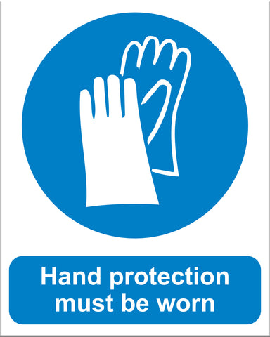 Hand Protection Must Be Worn - Markit Graphics