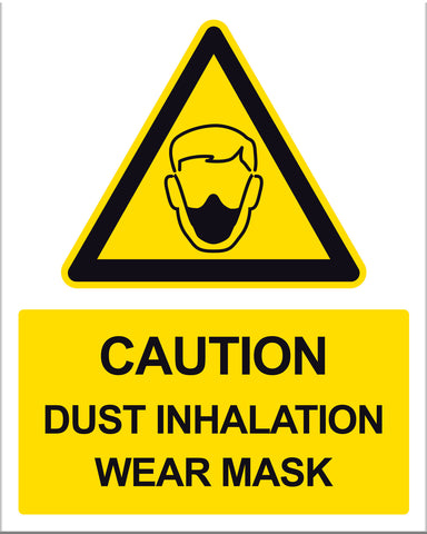 Caution Dust Inhalation Wear Mask - Markit Graphics