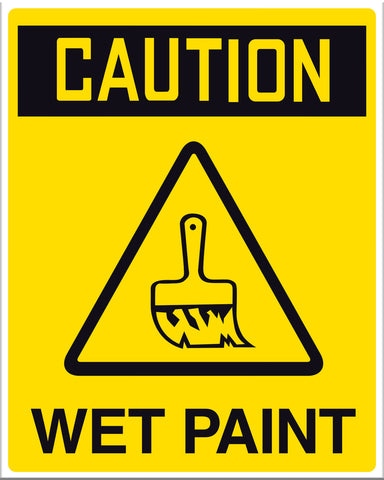 Caution Wet Paint Sign - Markit Graphics