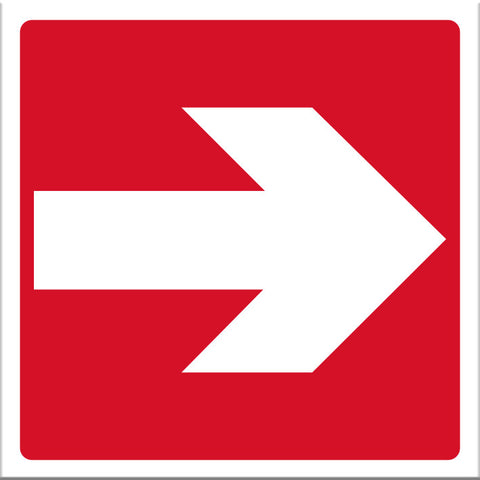 Arrow Red Sign