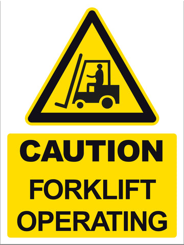 Caution Forklift Operating - Markit Graphics