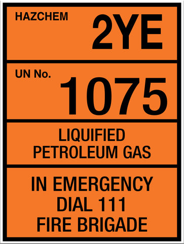 Hazchem LPG Small Sign