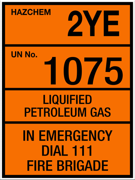 Hazchem LPG Large Sign