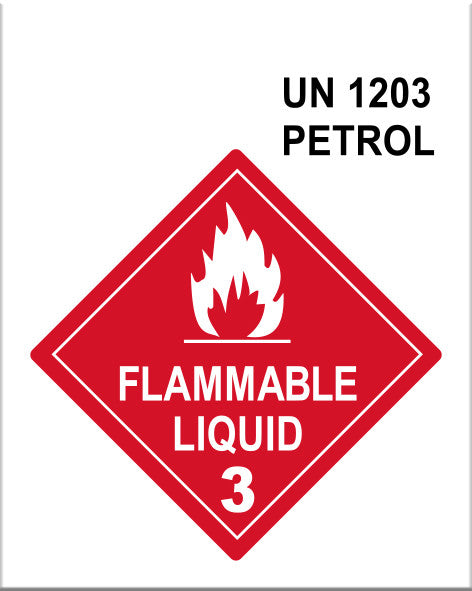 Safety Tags for Petrol Fuel Containers