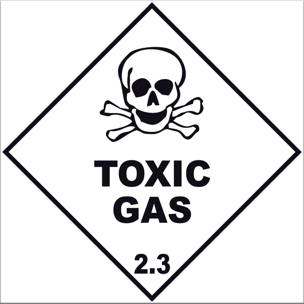 Toxic Gas 2.3 Labels - 10 Pack