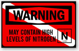 May Contain High Levels of Nitrogen Sticker