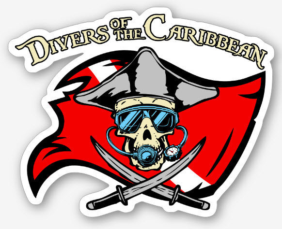 Divers of the Caribbean Sticker