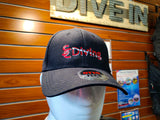 Embroidered SCDiving Logo - Black Otto Flex Hat
