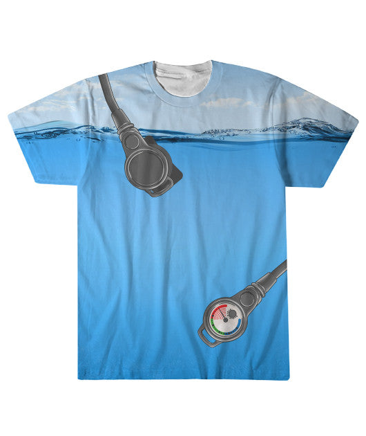 Dive Gear T-Shirt - Ocean Background