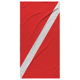 "Dive Flag Beach Towel 30""x60"""