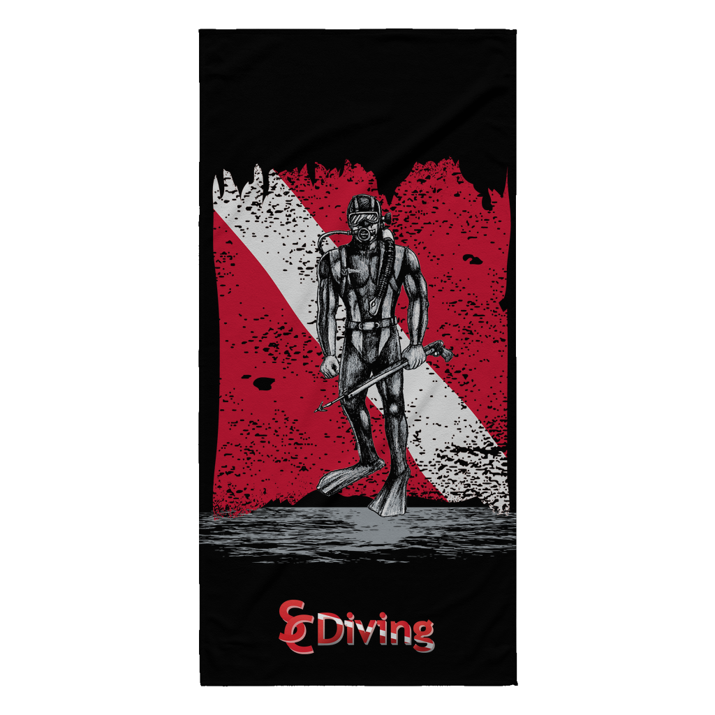 Beach Towel - SCDiving with Logo