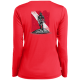 Ladies Long Sleeve Performance Vneck Tee