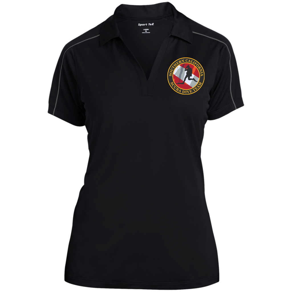 Ladies Micropique Sport-Wick Piped Polo