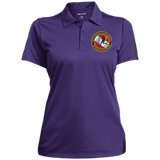 Ladies Performance Textured Three-Button Polo