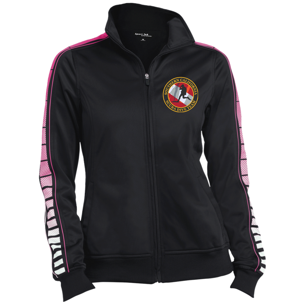 Ladies Dot Print Warm Up Jacket