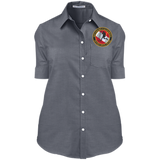 Ladies' Short Sleeve Oxford Shirt