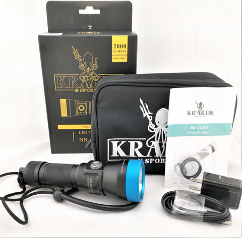 Kraken LED Light Torch 2000 Lumen (NR-2000)