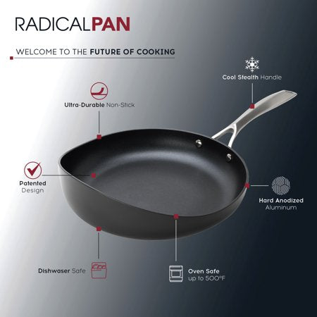 Rad USA® Nonstick Hard-Anodized Aluminum Radical Pan in Black