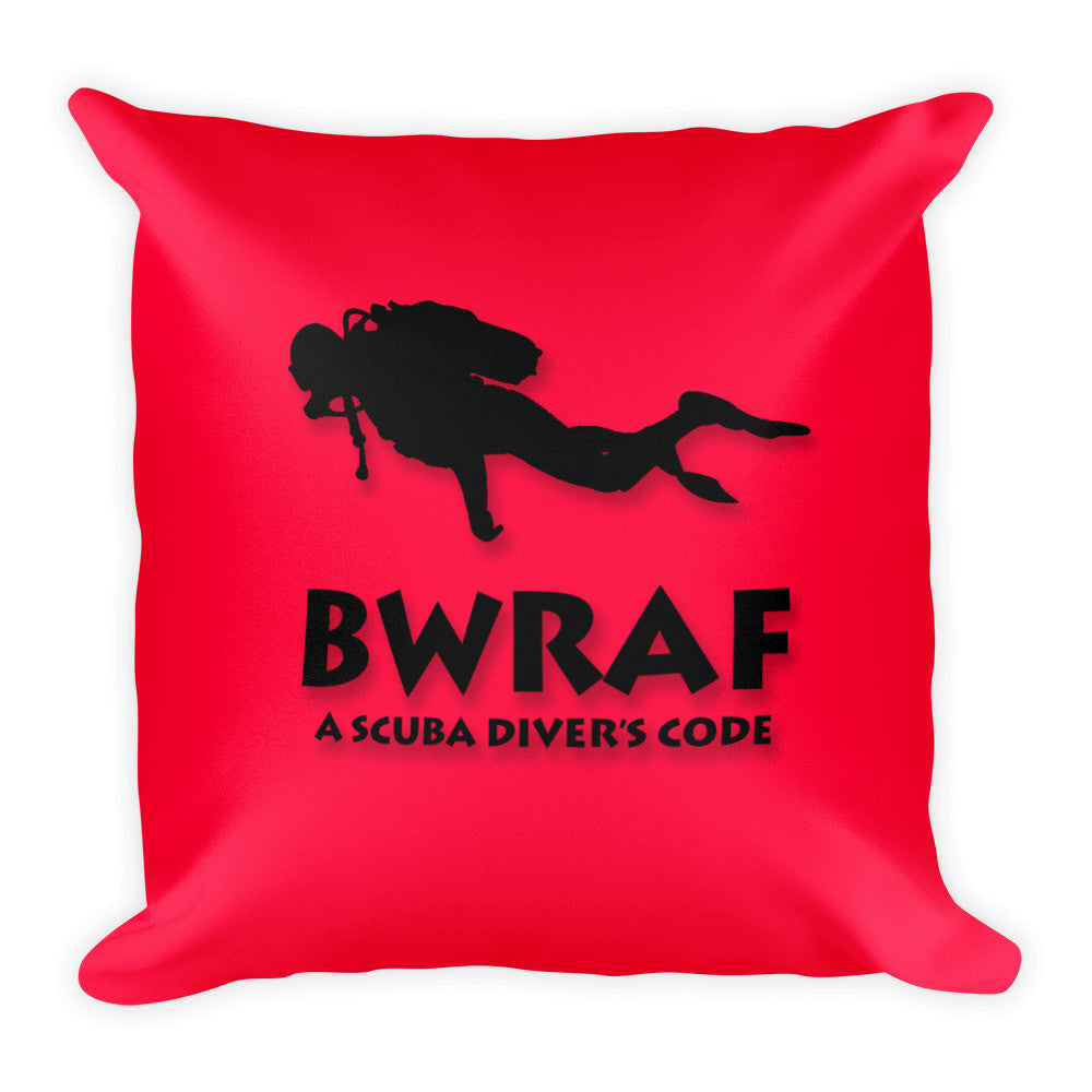 Square Pillow - BWRAF - Red Background