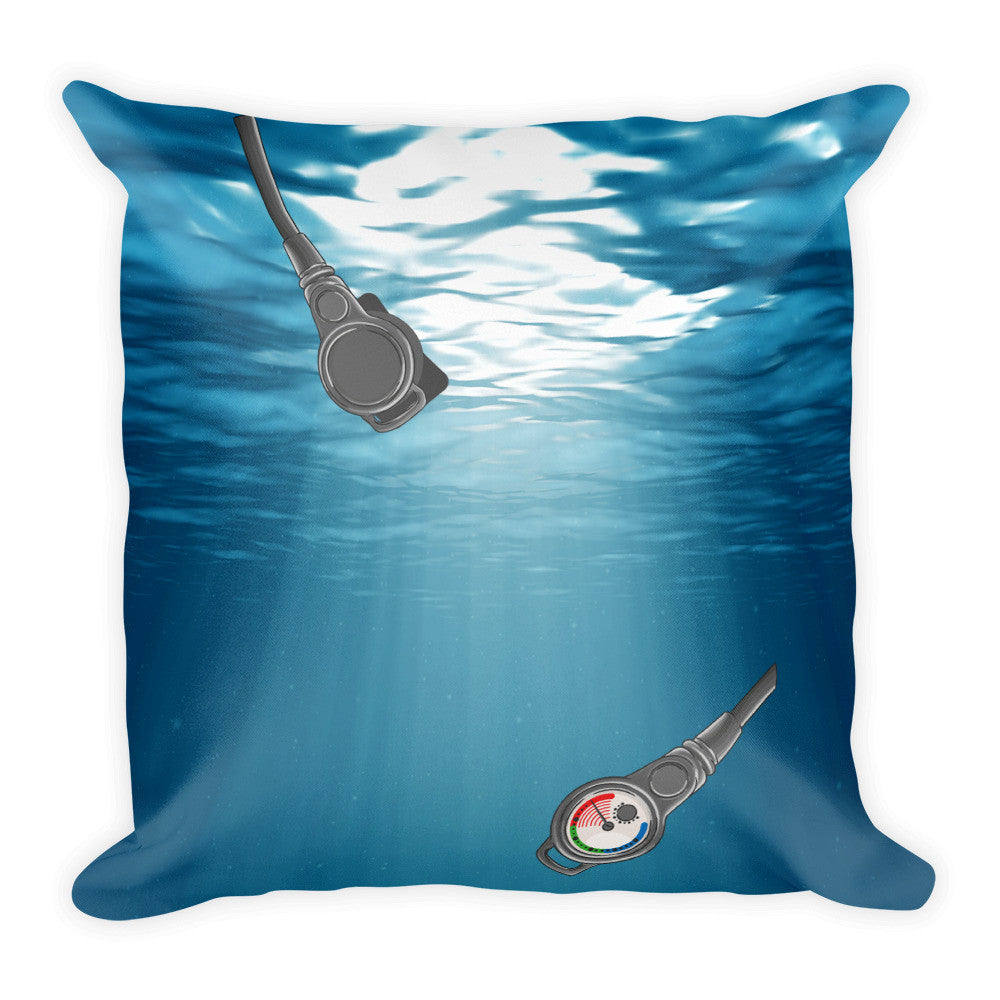 Square Pillow - Scuba Gear Artwork