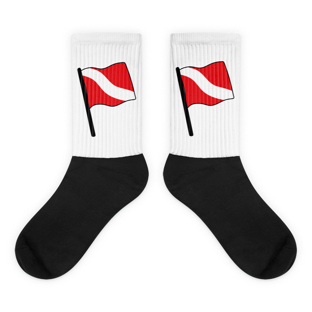 Dive Flag Black foot socks