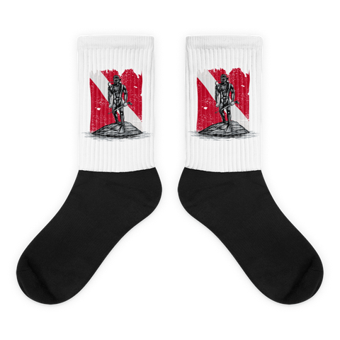 Bold Diver Black foot socks